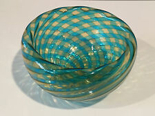 Orlando Zennaro Murano Italy Glass Bowl Signed