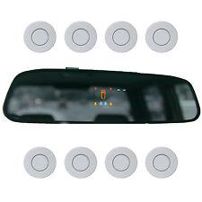 """Einparkhilfe """"Parking Welt"""" 8x Sensoren 21mm Weiss Rückfahrwarner PDC M15"""
