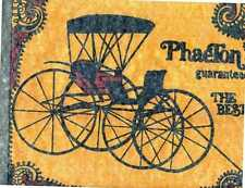 PHAETON HORSE DRAWN BUGGY  iron on tee shirt transfer full size NOS