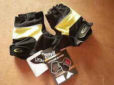 Crivit Sports Lycra Padded Cycling Gloves : Size 7.5 (S) : New : Black & Lime