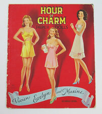 Vintage 1943 Saalfield HOUR OF CHARM Paper Dolls UNCUT Booklet