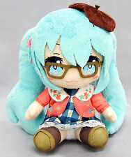 Taito Vocaloid Hatsune 7'' Miku Winter Costume Mascot Plush~TA40000 Miku Glasses
