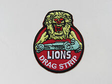 LIONS DRAGSTRIP Patch Raceway Race Hot Rod Collector Applique Sew Iron On