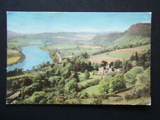 THE VALLEY OF THE TAY FROM ABOVE KINFAUNS CASTLE PERTH 1977 POSTCARD