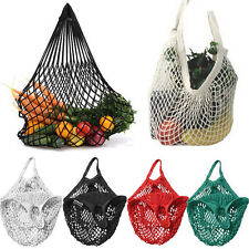 New Bag ORGANIC COTTON STRING ECO SHOPPING Tote Short Handle Reusable Handbag