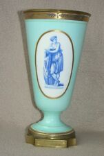 ANTIQUE CONTINENTAL FRENCH ST LOUIS BACCARAT OPALINE GLASS & ORMOLU VASE PRUDHON