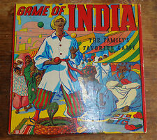 antique Game of India Parcheesi by Transogram