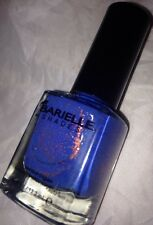 BARIELLE Nail Polish in 5083 *FALLING STAR* Marine Blue w/Copper Gold Glitter BN
