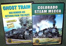 "TRAIN VIDEO DVD ""COLORADO STEAM SPECTACULAR"" 2 DISC SET NARROW GAUGE"