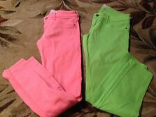 choice 1 Abercrombie & Fitch size 2,6 Women straight leg Skinny Jeans neon denim