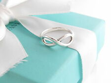 Auth Tiffany & Co Silver Infinity Everlasting Love Ring Size 7.5 Box