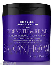 Charles Worthington Strength & Repair LONGER AND STRONGER HAIR MASQUE 160ml Mask