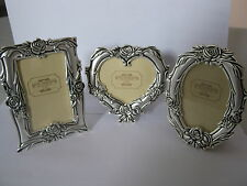 Set 3pcs Sweet Memories Metal Photo Frame 3x4in / 8x10cm