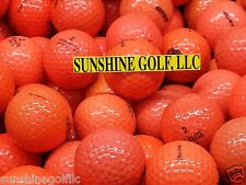 24 MINT / NEAR MINT Orange Color Assorted Mix Used Golf Balls (5A & 4A)