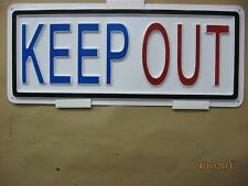 KEEP OUT 3D Embossed Plastic Sign 5x13 Posted Stay Away Leave Here No Entery