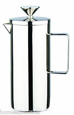 Grunwerg 8 Cup Deluxe Single Wall Coffee Maker Plunger Mirror Stainless Steel