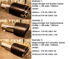 Force79 Echtcarbon ummantelte Edelstahl Endrohre für Auspuffanlagen für BMW