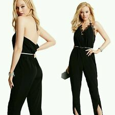 GUESS BY MARCIANO BLACK Samantha Lace Jumpsuit SIZE 6