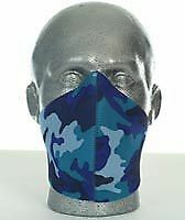 Bandero Biker Perforated Custom Neoprene Face Mask Electric Blue Camo BC21745 T