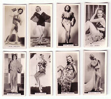 (8) 1939 Carreras Film & Stage Beauties - cigarette tobacco cards