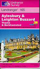 Ordnance Survey New Landranger Map 165 Aylesbury & Leighton Buzzard Thame OS