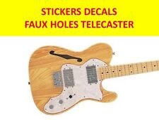 STICKERS FAUX HOLES BLACK TELECASTE VISIT MY STORE FOR CUSTOMIZED GUITARS & BASS