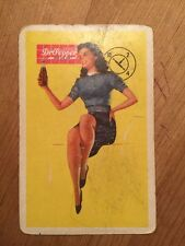 Single Swap Playing Card ANTIQUE Dr Pepper 10-2-4 Pin Up VINTAGE Queen Clubs