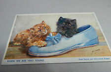 kittens When we were young by M.Gear Black persian cat unposted B2