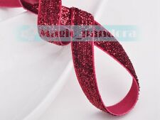 "10 yards 10mm 3/8"" Flocked Velvet Ribbon Bows Sew Trims Crafts Embroider Making"