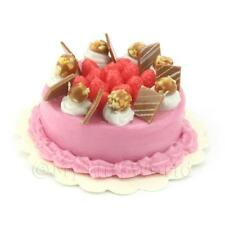 Dolls House Miniature Strawberry Chocolate Nut Cake