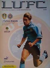 Programm UEFA Cup 1999/00 Leeds United - Partizan Belgrad