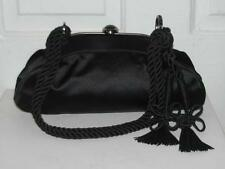 RARE ALEXANDER MCQUEEN BLACK EVENING BAG CLUTCH ROPE TASSELS CRYSTALS COUTURE **