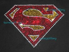 "HOTFIX RHINESTONE HEAT TRASFER IRON ON ""SUPERMAN BLING BLING"""