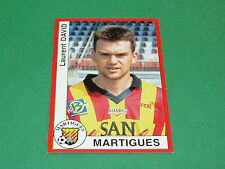 170 LAURENT DAVID FC MARTIGUES PANINI FOOT 95 FOOTBALL SAISON 1994-1995