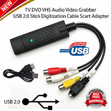 USB 2.0 Capture Card Easycap VHS to DVD Converter Audio Video Adapter UK Store