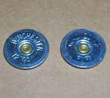 Thin Cut WINCHESTER Shotgun Shell Heads Jewelry Supplies LOT OF 12 (STEEL) Tin
