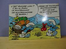 smurfs post card nice and vintage french 1981 serie 457/1 les schtroumpfs