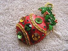 Vintage Weiss Pin Christmas Ornamant