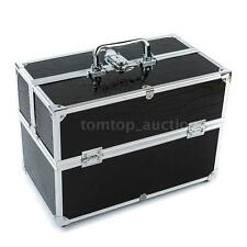 Lockable Cosmetic Organizer Make Up Case Containing Storage Box Jewelry Box O1L8