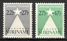 Suriname - 1947 Fight lepra / Airmail - Mi. 281-82 MH