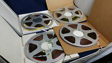 "4 X Reel to reel 10.5"" inches Emitape spools in not original boxes, used"