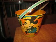 Vintage  Disney Tin Toy Sand Pail no.12 Seaside by Happynak from the 30's Pail C