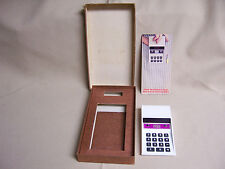 Vintage NS Electronics 900 red led Calculator National semiconductor &Box,manual
