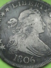 1806 Draped Bust Half Dollar- Pointed 6, XF Details