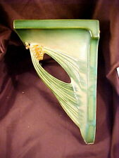 ROSEVILLE SCARCE GREEN PINECONE WALL SCONCE SHAPE #1, FLAWS, c1935