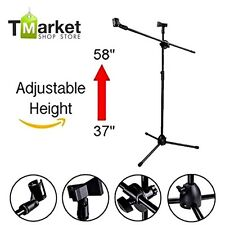 Professional Microphone Tripod Adjustable Stand Boom Mic Stage Studio Condenser