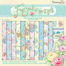 LOT 36 FEUILLE PAPIER FLEURS RÉTRO PRINTEMPS SCRAPBOOKING SCRAP CARTE 20 X 20