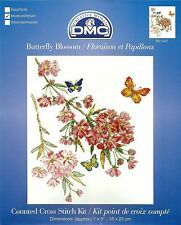 DMC BUTTERFLY BLOSSOM FLOWERS COUNTED CROSS STITCH KIT 18x23cm NEW MAY 2014