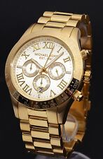 Michael Kors MK8214 Layton Gold Steel Chronograph Mens Watch RRP £299