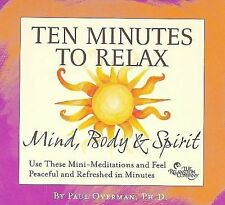 FREE US SH (int'l sh=$0-$3) ~LikeNew CD Paul Overman: Ten Minutes to Relax: Mind